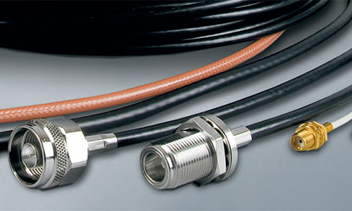 Coaxial cables and connectors